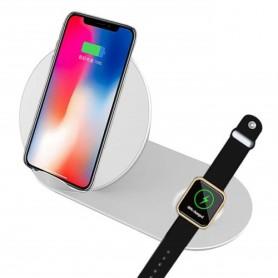 DrPhone 2 in 1 - Echo Pro - 15W Fast Charge Dock draadloze oplaadstandaard Qi Wireless Apple Watch / Smartphone