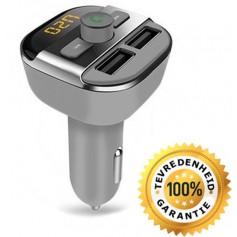 DrPhone BC5 - 5 in 1 Draadloze Universele Bluetooth Carkit Auto MP3 Speler / FM transmitter / LED Display / Handsfree