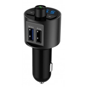 DrPhone BC4 FM Transmitter – Dual USB – Bluetooth – Handsfree – Multifunctioneel Draadloze Auto FM Transmitter – MP3