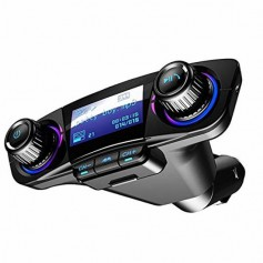 DrPhone BC8 Pro - Multifunctionele Autolader kit - FM-transmitter & Aux+ Dual Oplader 2.1A - Micro SD & met Matrix LED-scherm