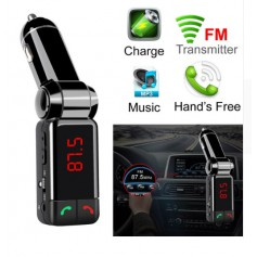 DrPhone BC3 - 5 in 1 Universele Draadloze Bluetooth Handsfree-carkit met FM transmitter/ AUX ingang/ SD + micro usb kaart