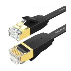 DrPhone Ethernetkabel CAT6 Platte RJ45 Lan Netwerk Kabel - 1Gbps (1000 Mbps) - 5 Meter - Zwart