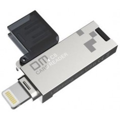 DrPhone DM Series USB naar Lightning HUB - Mini USB-Stick Kaartlezer - USB 3.0 - Ziver/Zwart