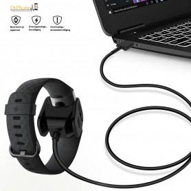 DrPhone - Charge3 Series - USB Kwaliteit Oplaadkabel Adapter voor Fitbit Charge 3- Bescherming voor Overbelasting -
