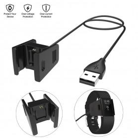 DrPhone - Charge Series - USB Kwaliteit Oplaadkabel Adapter voor Fitbit Charge 2 - Bescherming voor Overbelasting -