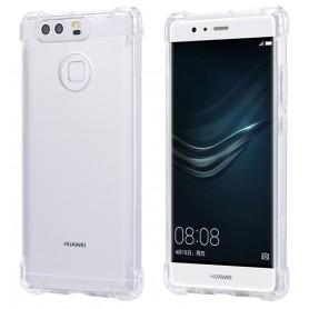 DrPhone Huawei P10 Lite TPU Hoesje - Siliconen Shock Bumper Case -Backcover met Verstevigde randen voor extra