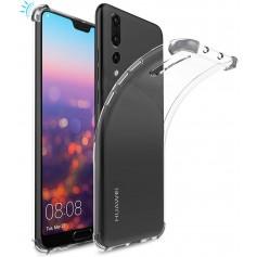 DrPhone Huawei P20 Lite TPU Hoesje - Siliconen Shock Bumper Case -Backcover met Verstevigde randen