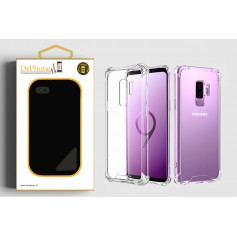 DrPhone Samsung S9 TPU Hoesje - Siliconen Shock Bumper Case -Backcover met Verstevigde randen voor extra bescherming