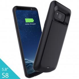 DrPhone Samsung Galaxy S8 Externe Batterij - 5000 mAh Slimfit batterijhoes - Powerbank Charger Case - Batterijlader –