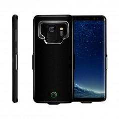 DrPhone Samsung Galaxy S9+(Plus) Externe Batterij - 7.000 mAh Slimfit batterijhoes - Powerbank Charger Case -