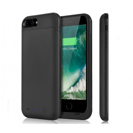 DrPhone iPhone 7/8 Externe Batterij Hoes - 4500 mAh batterijhoes - Powerbank Charger Case -Batterijlader – TPU