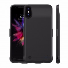 DrPhone iPhone X/Xs Externe Batterij 5200 mAh – Ultra Slim Powerbank - Draagbare Batterijhoes – Fast Charge Chip – 4
