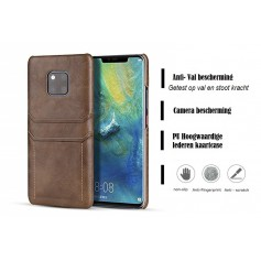 DrPhone Huawei Mate 20 PRO Luxe Kaarthouder Case - Premium PU lederen Backcover - Portemonnee Hard Cover –