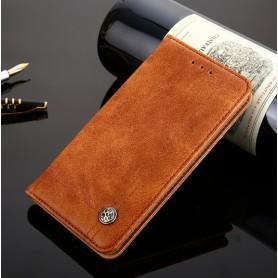 DrPhone LG G7 ThinQ Flip Cover – Kaart Case met briefvak [Stand functie] PU Lederen Portemonnee Case - Vintage Book