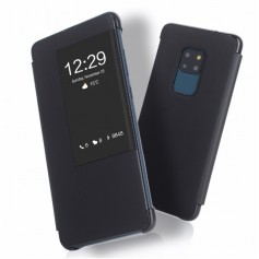 DrPhone Mate 20 Flip Case - Luxe Smart Touch View Cover [Auto-Wake Functie] – PU leder Hoes- Volledige bescherming –