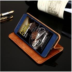 DrPhone Oneplus 6/6T Flip Cover – Kaart Case met briefvak [Stand functie] PU Lederen Portemonnee Case - Vintage Book