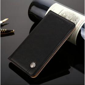 DrPhone Xperia XZ2 Compact Flip Cover – Kaart Case met briefvak [Stand functie] PU Lederen Portemonnee Case - Vintage