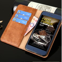 DrPhone Xperia XZ2 Flip Cover – Kaart Case met briefvak [Stand functie] PU Lederen Portemonnee Case - Vintage Book Style