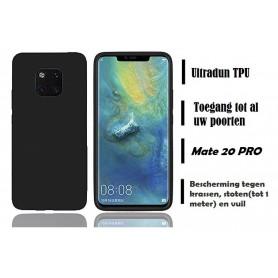 DrPhone Mate 20 PRO siliconen hoesje - TPU case - Ultra dun flexibele hoes - Zwart