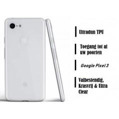 DrPhone Google Pixel 3 TPU Hoesje - Ultra Dun Premium Soft-Gel Case – Transparant