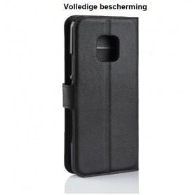 DrPhone Mate 20 Flipcover - Bookcase - Luxe booktype PU Lederen Portemonnee Case – Wallet Case met Kickstand - Zwart