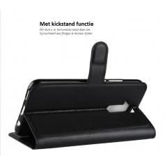 DrPhone Mate 20 Lite Flipcover - Bookcase - Luxe booktype PU Lederen Portemonnee Case – Wallet Case met Kickstand -