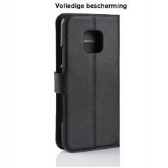 DrPhone Mate 20 PRO Flipcover - Bookcase - Luxe booktype PU Lederen Portemonnee Case – Wallet Case met Kickstand – Zwart