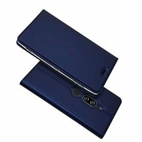 DrPhone Sony Experia XZ2 Premium Bookcase – Flip Case Ultradun Slim Case – Magnetische Boektype met Kickstand – Card