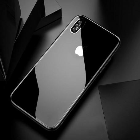 DrPhone iPhone X / XS Back Glas 4D Volledige Achterkant Glazen Dekking Full coverage Curved Edge Frame Tempered glass