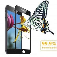 DrPhone iPhone 7 Plus/8 Plus Glas 4D Volledige Glazen Dekking Full coverage Curved Edge Frame Tempered glass Zwart -