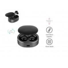 DrPhone GenosX - Truewireless Earbuds - TWS Oordopjes - 15 uur Batterijduur  - Geen vertraging in Geluid - Bluetooth 5.0 - Zwart