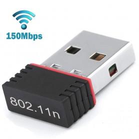 DrPhone W1 USB Draadloze WiFi-adapter (150 Mbps snelheid) Mini WiFi-Dongle voor o.a  Desktop /Laptop /PC Windows 10/8/7