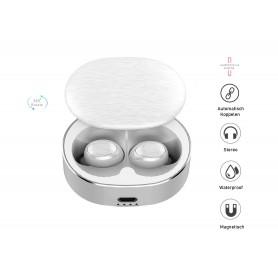 DrPhone GenosX - Truewireless Earbuds - TWS Oordopjes - 15 uur Batterijduur  - Geen vertraging in Geluid - Bluetooth 5.0 - Wit