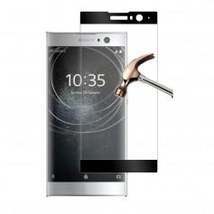 DrPhone XA2 Glas 4D Volledige Glazen Dekking Full coverage Curved Edge Frame Tempered glass Zwart- Official DrPhone