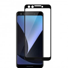 DrPhone Google Pixel Glas 4D Volledige Glazen Dekking Full coverage Curved Edge Frame Tempered glass Zwart - Official