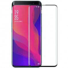 DrPhone Oppo Find X Glas 4D Volledige Glazen Dekking Full coverage Curved Edge Frame Tempered glass Zwart - Official