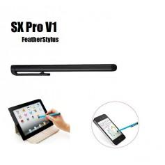 DrPhone - SX Pro V1 Universele Lightweight Feather Stylus Pen met clip - Geschikt voor Tablets en Smartphones -