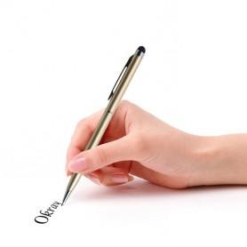 DrPhone - SX Pro V3 Universele 2 in 1 Stylus Pen Met Clip - Balpen - Schrijfpen Zwart - Geschikt voor Tablets en