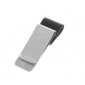 DrPhone Pen Loop – Notebook lederen pennenhouder met roestvrij stalen Clip - Apple Pen / Surface Pen / Samsung Pen - Zwart
