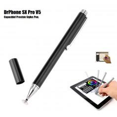 DrPhone - SX Pro V5 Premium Stylus Pen Precisie Disc Capacitief - Zwart