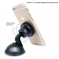 DrPhone – V5 - Draaibare Magnetische Telefoonhouder |Auto Houder|Met Quick-Snap & Sterk magneet - Geschikt voor Alle