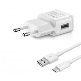 OLESIT 5V 2A 10W. 1 poort USB Oplader Samsung Galaxy S8/S9 UNS-1538 OLESIT Adapter + 3 Meter TYPE C - USB C Kabel Wit