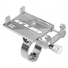 DrPhone Fiets/Moter houder/Moto G Series - Aluminium - Verstelbare Mobiele Telefoonhouder - Stevige bevestiging - Zilver