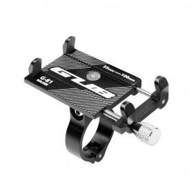 DrPhone Fiets/Motor houder/Moto G Series - Aluminium - Verstelbare Mobiele Telefoonhouder - Stevige bevestiging - Zwart