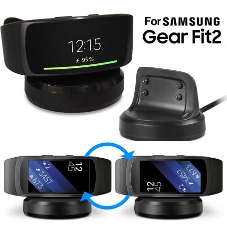 DrPhone - Samsung Gear Fit 2 / Gear Fit 2 Pro Premium Oplader / Dock - Zwart