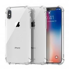DrPhone iPhone X/XS TPU Hoesje - Siliconen Shock Bumper Case -Backcover met Verstevigde randen voor extra bescherming