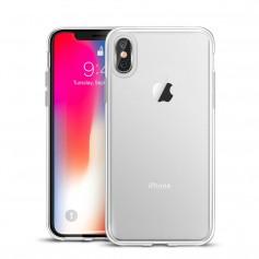 DrPhone iPhone X/XS TPU Hoesje - Transparant Ultra Dun Premium Soft-Gel Case + DrPhone Glas - Glazen Screen protector