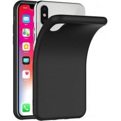 DrPhone iPhone X/XS siliconen hoesje - TPU case - Ultra dun flexibele hoes - Zwart