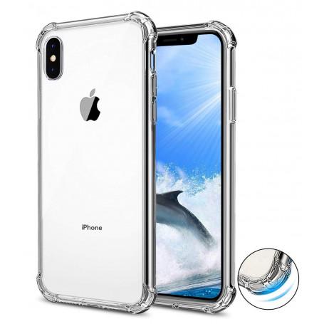 DrPhone iPhone XS MAX (6.5 Inch) TPU Hoesje - Siliconen Shock Bumper Case -Backcover met Verstevigde randen voor extra