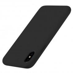 DrPhone iPhone XS MAX (6.5 inch) siliconen hoesje - TPU case - Ultra dun flexibele hoes - Zwart